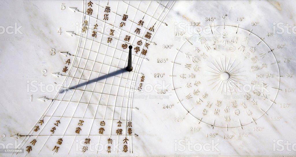 Chinese Sundial stock photo