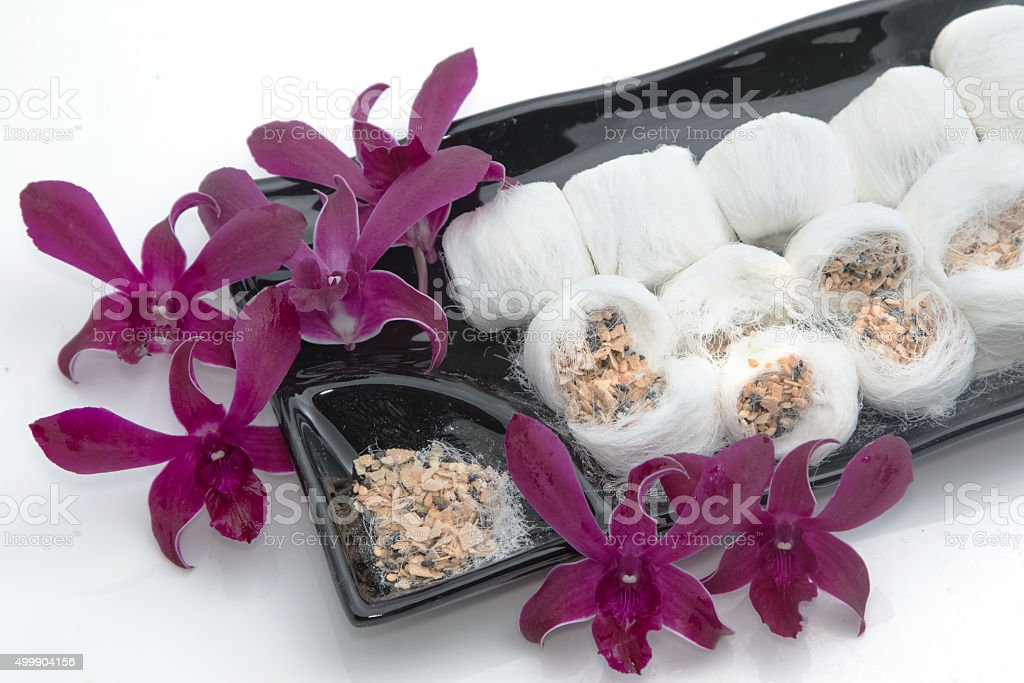 Chinese sweet dessert ,Chinese dessert as silk. stock photo