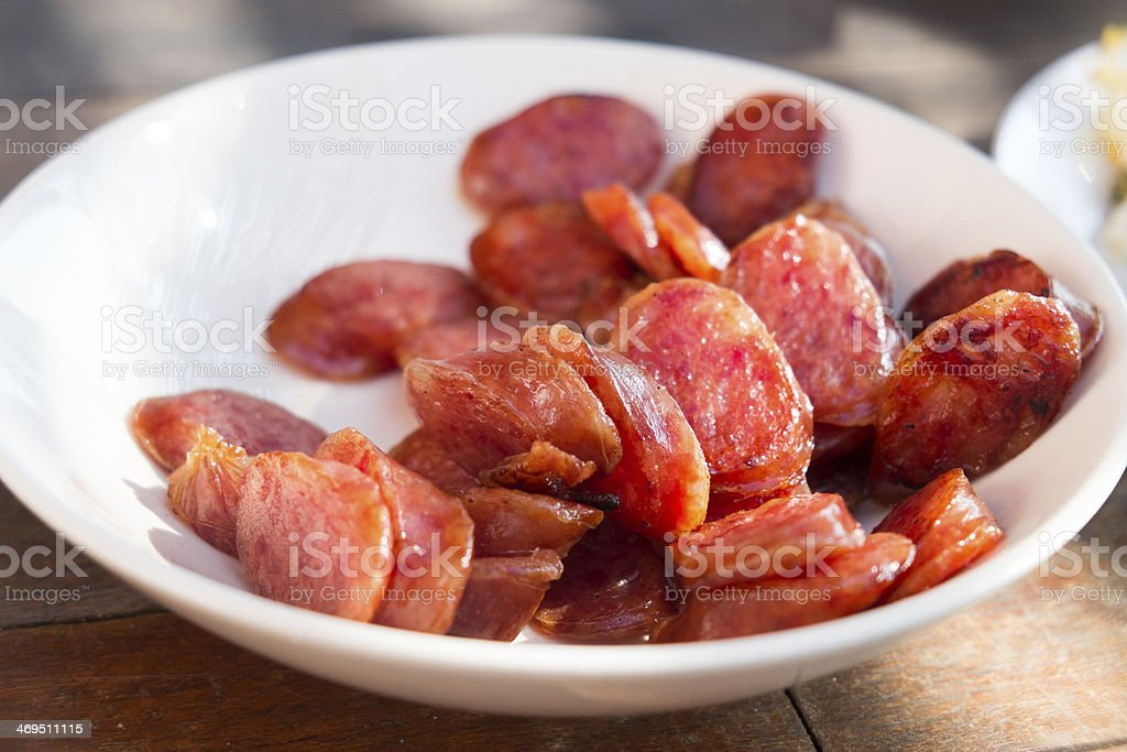 Chinese Sweet Sausages royalty-free stock photo
