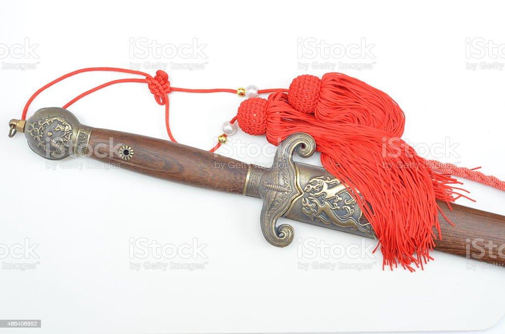Chinese sword stock photo