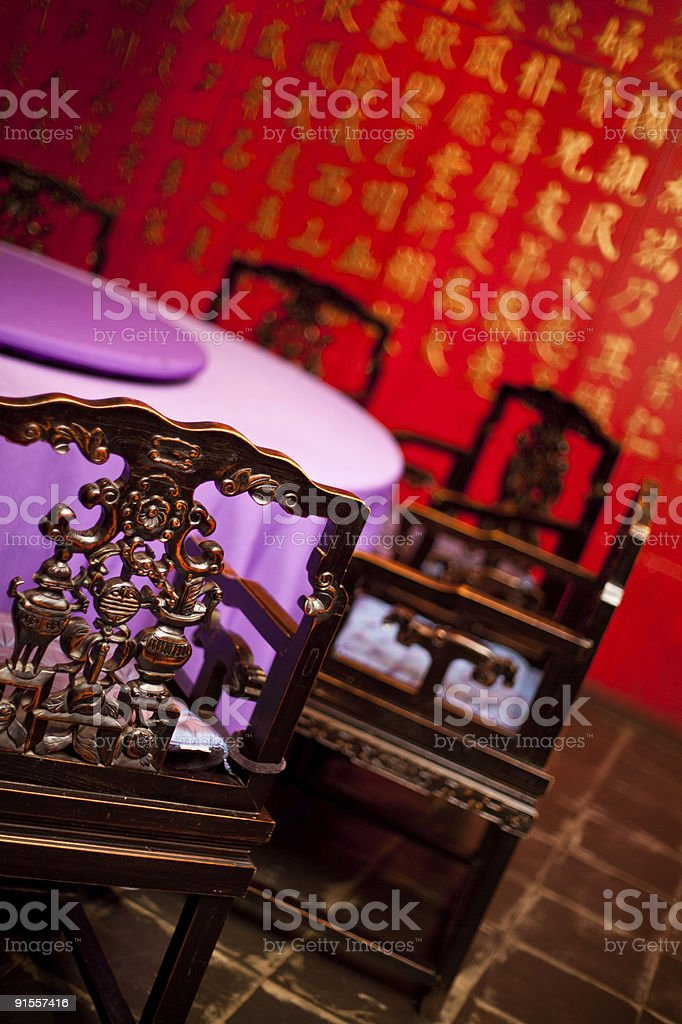 Chinese table royalty-free stock photo