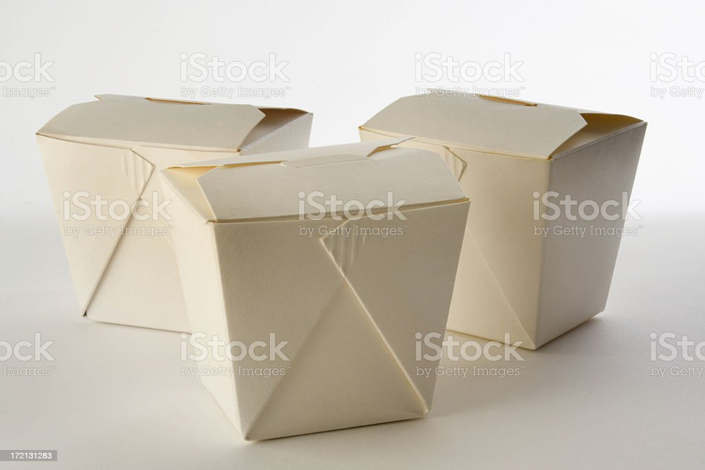 Chinese Take Out Boxes royalty-free stock photo