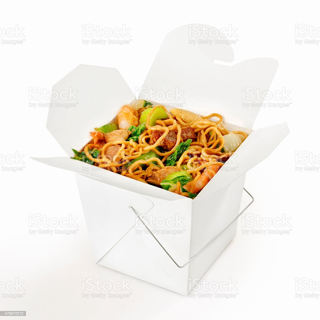 Chinese Take Out, Chow Mein stock photo