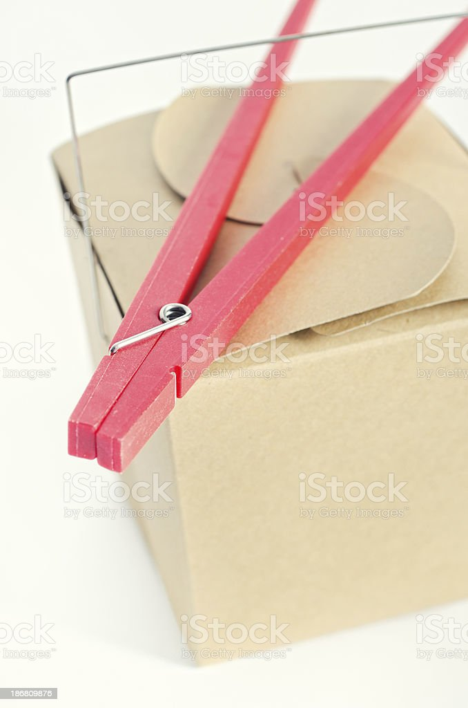 Chinese Take Out Container royalty-free stock photo