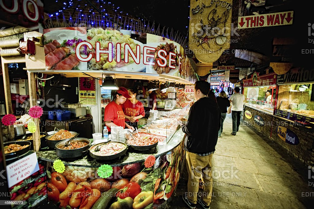 Chinese Take Out Food in Camden Town, London stock photo