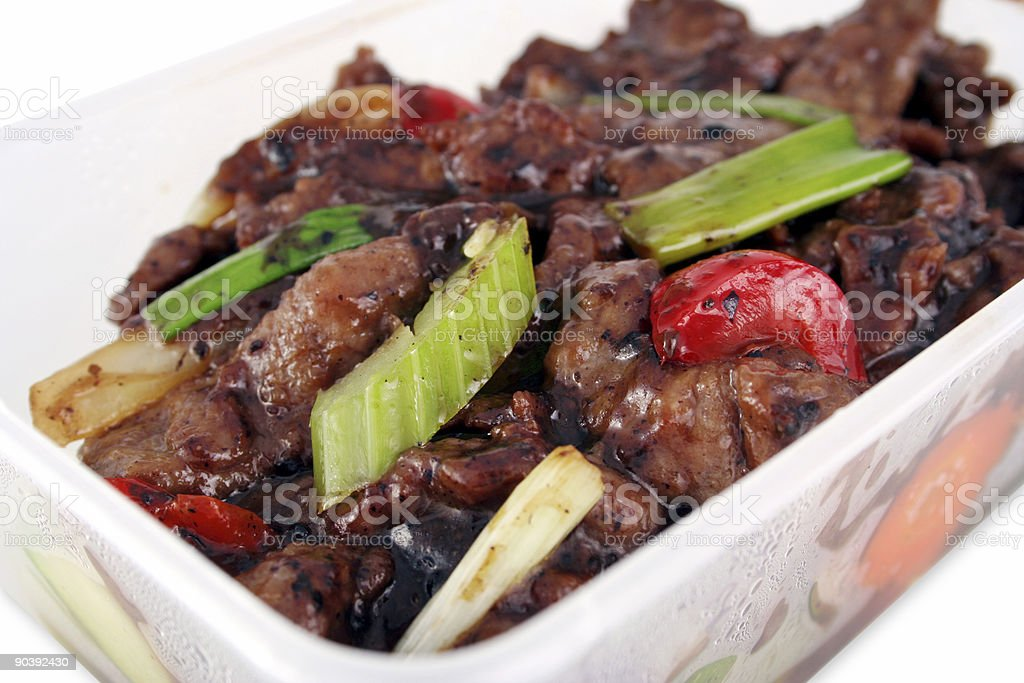 Chinese take out with clipping path royalty-free stock photo