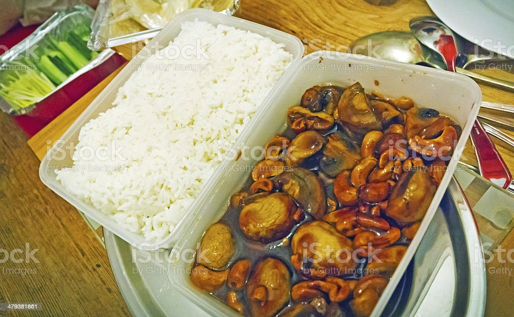 Chinese takeaway meal stock photo