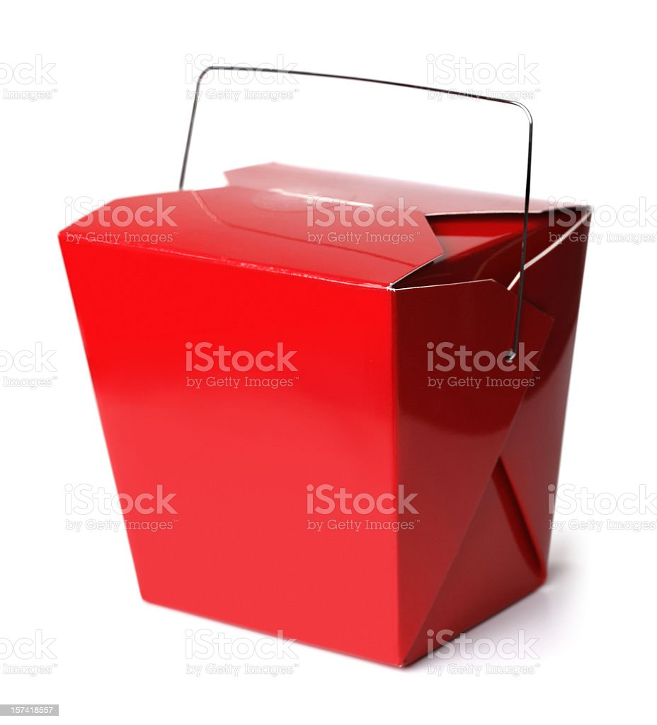 Chinese Take-Out Food Box stock photo