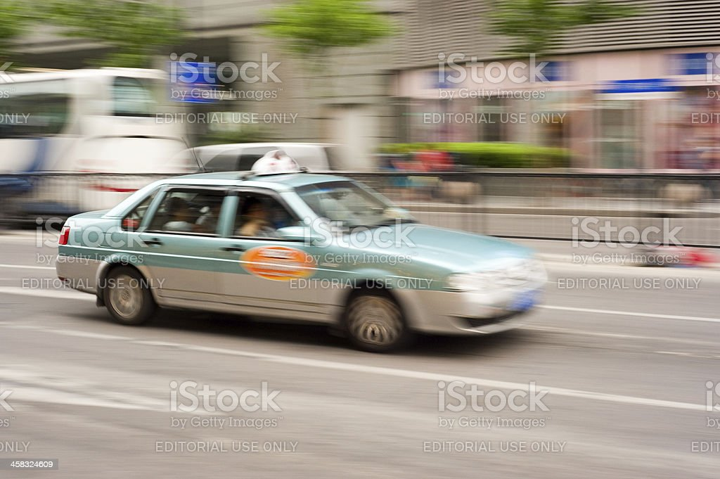 Chinese Taxi royalty-free stock photo