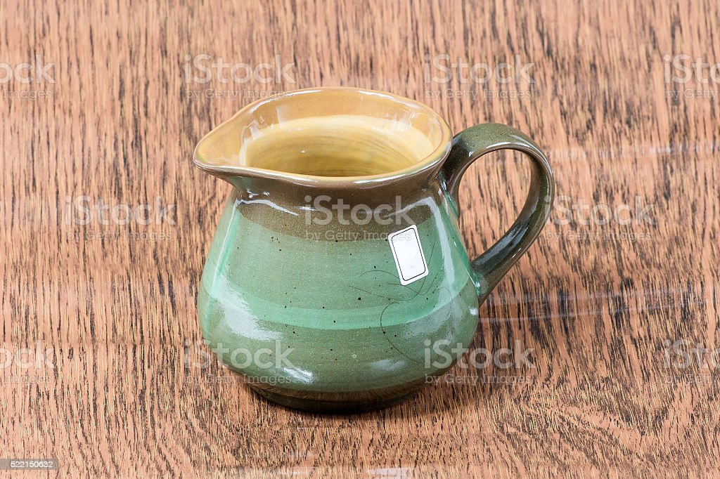 chinese tea cup on woooden table stock photo