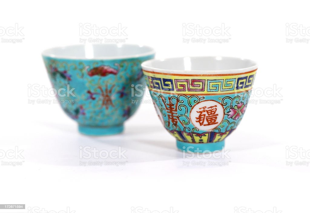 Chinese Tea Cups 01 royalty-free stock photo