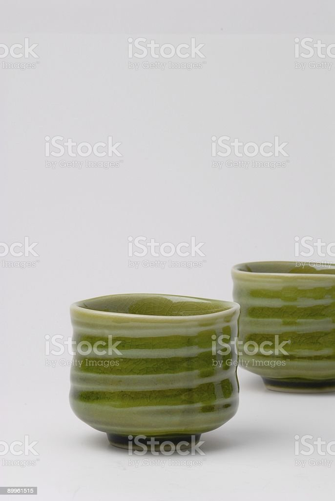 chinese tea cups stock photo