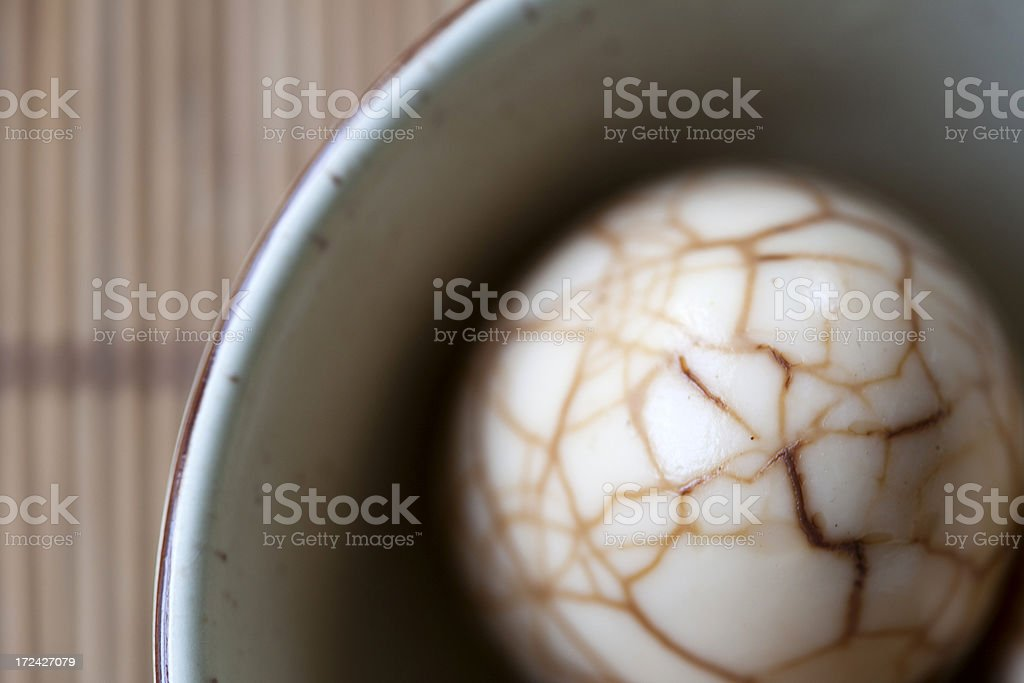 Chinese Tea Egg royalty-free stock photo