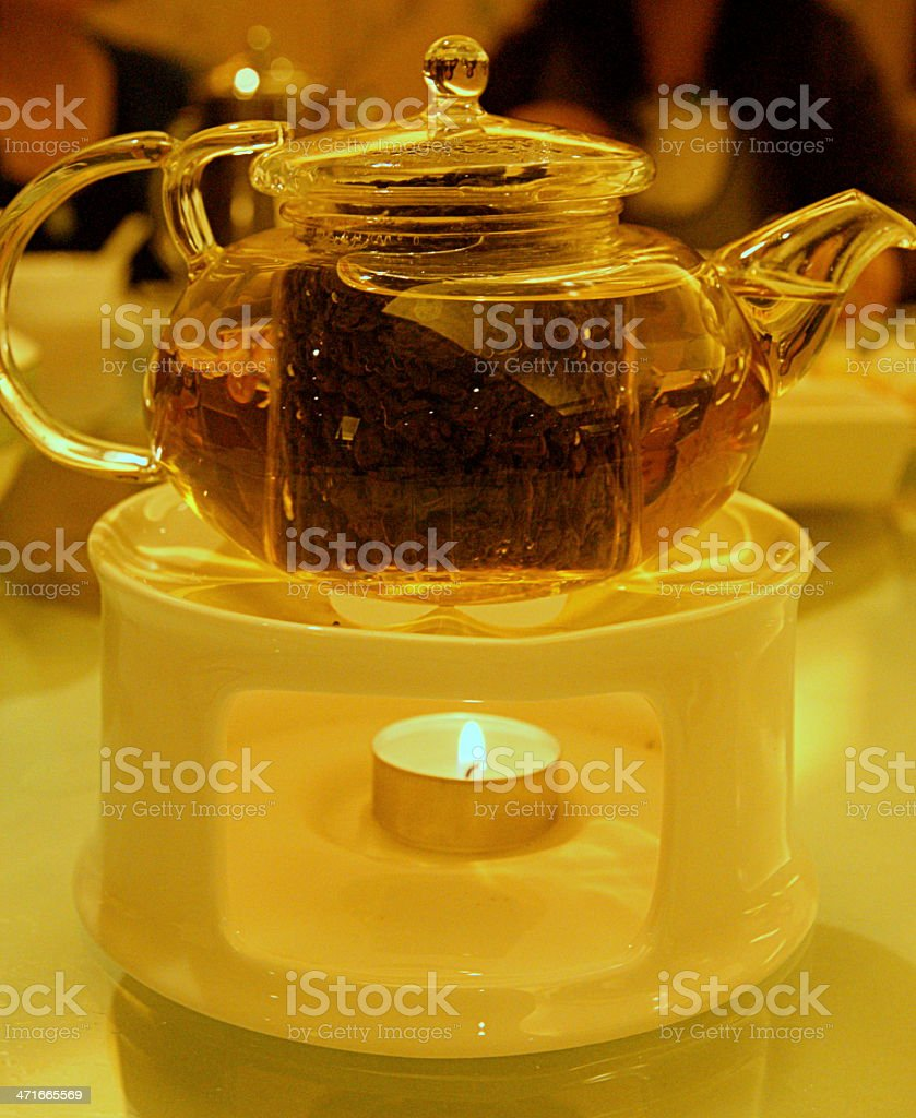 Chinese tea served traditionally royalty-free stock photo