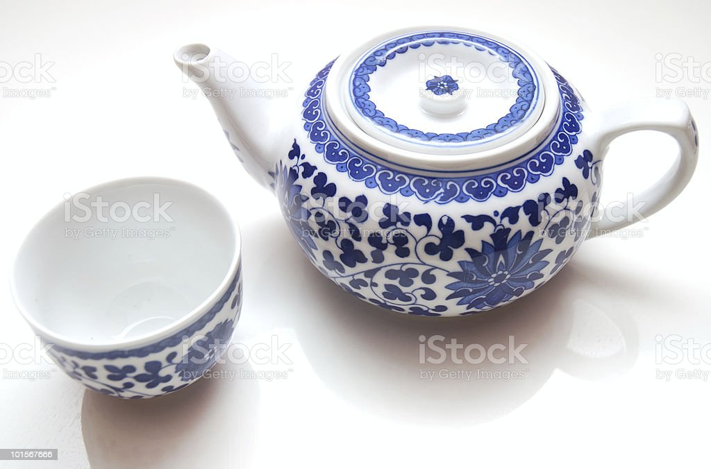 Chinese Teapot in white background royalty-free stock photo
