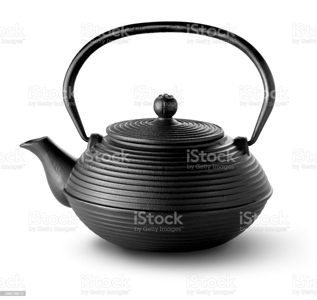 Chinese teapot isolated stock photo
