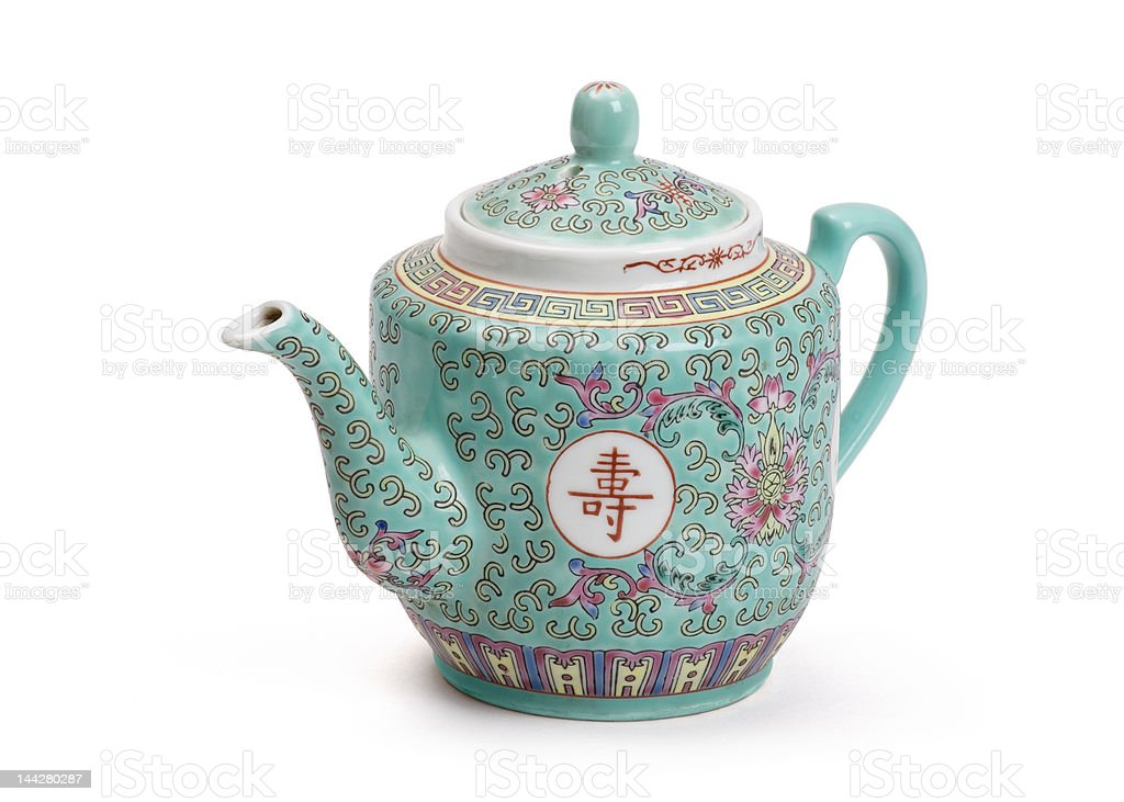 Chinese teapot stock photo