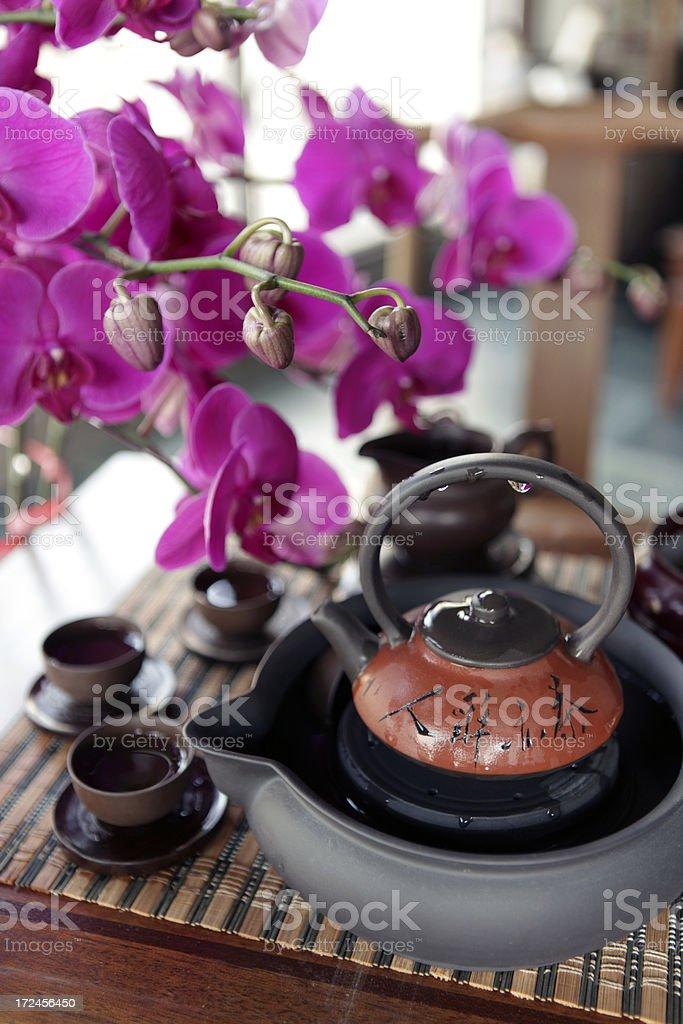 Chinese Teapot Set royalty-free stock photo