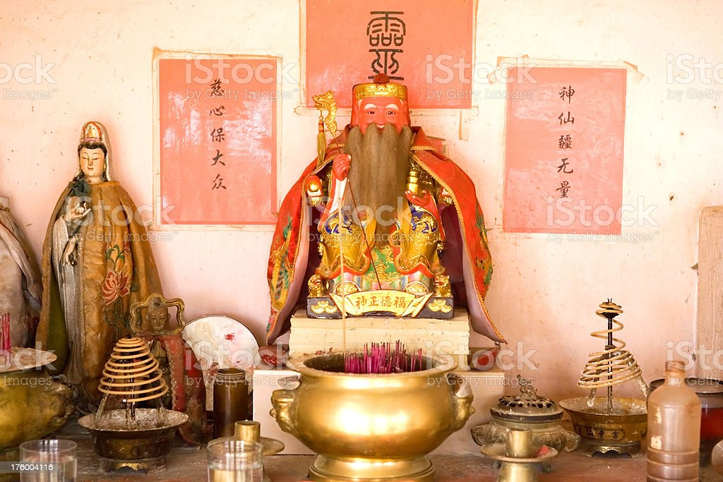 chinese temple buddha artifacts royalty-free stock photo