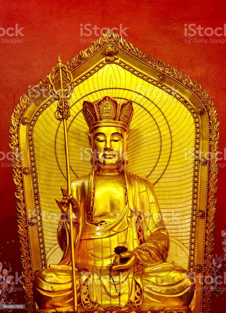 Chinese Temple Buddha stock photo