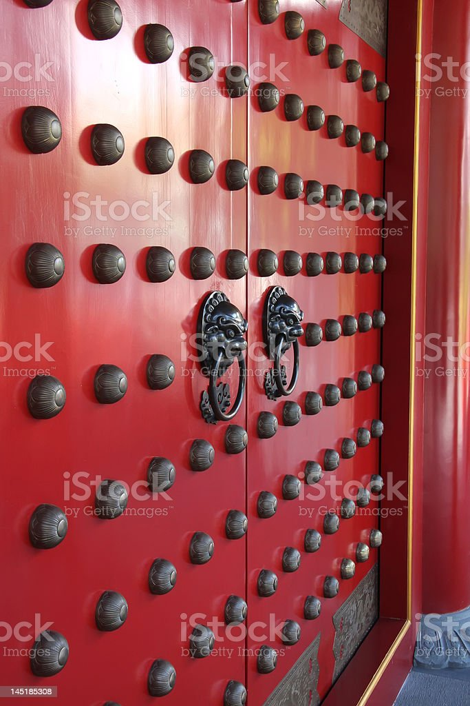 Chinese temple doorway royalty-free stock photo