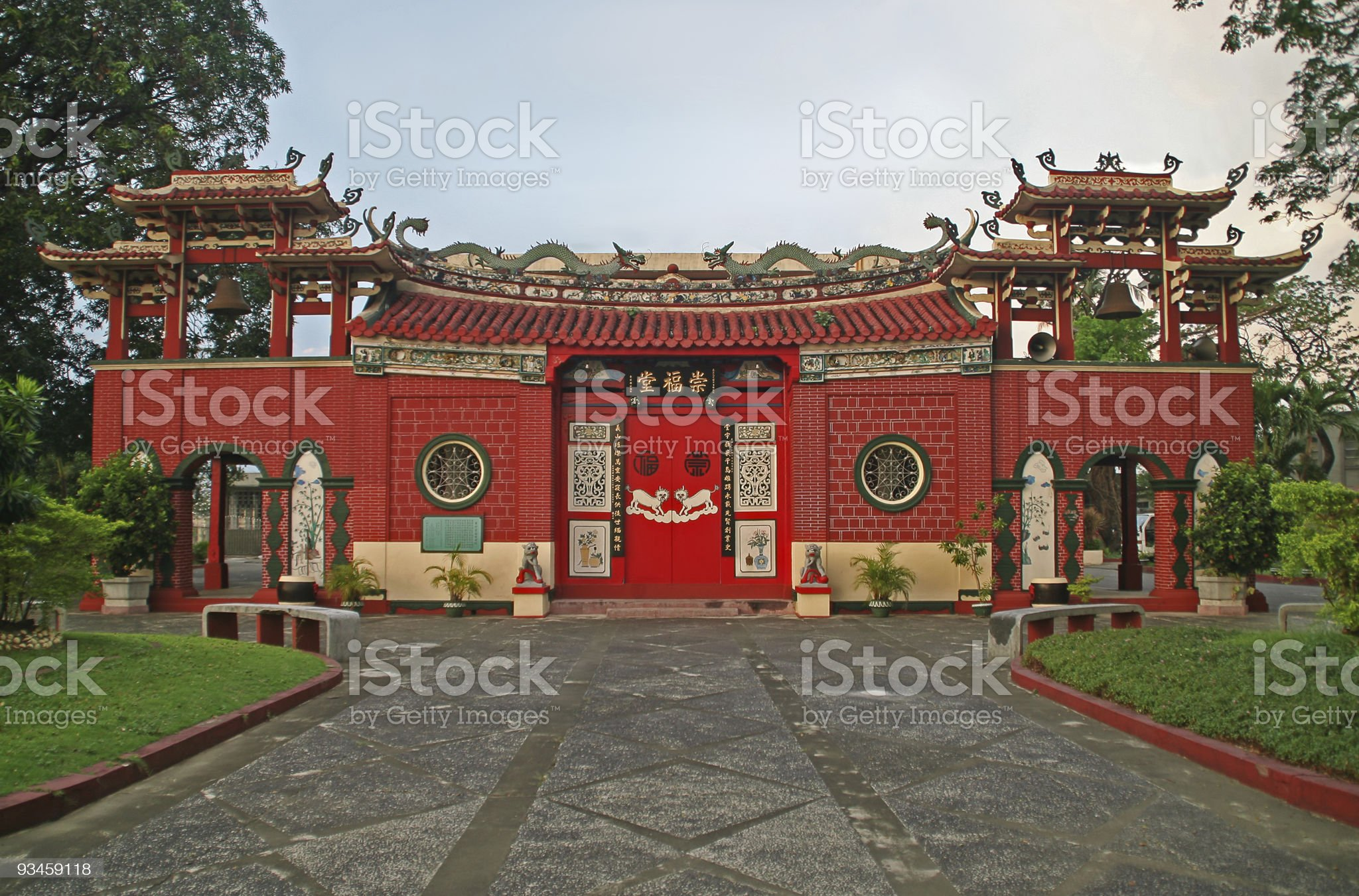 Chinese temple entrance royalty-free stock photo