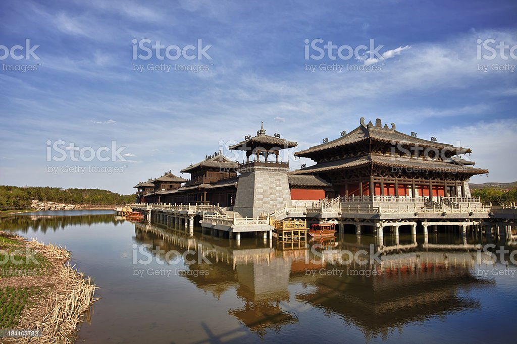 Chinese temple in Datong, Shanxi Province China stock photo