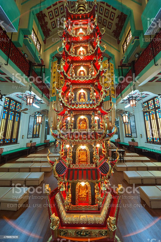 Chinese Temple in Hong Kong stock photo