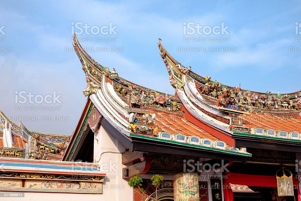 Chinese temple in Melaka stock photo
