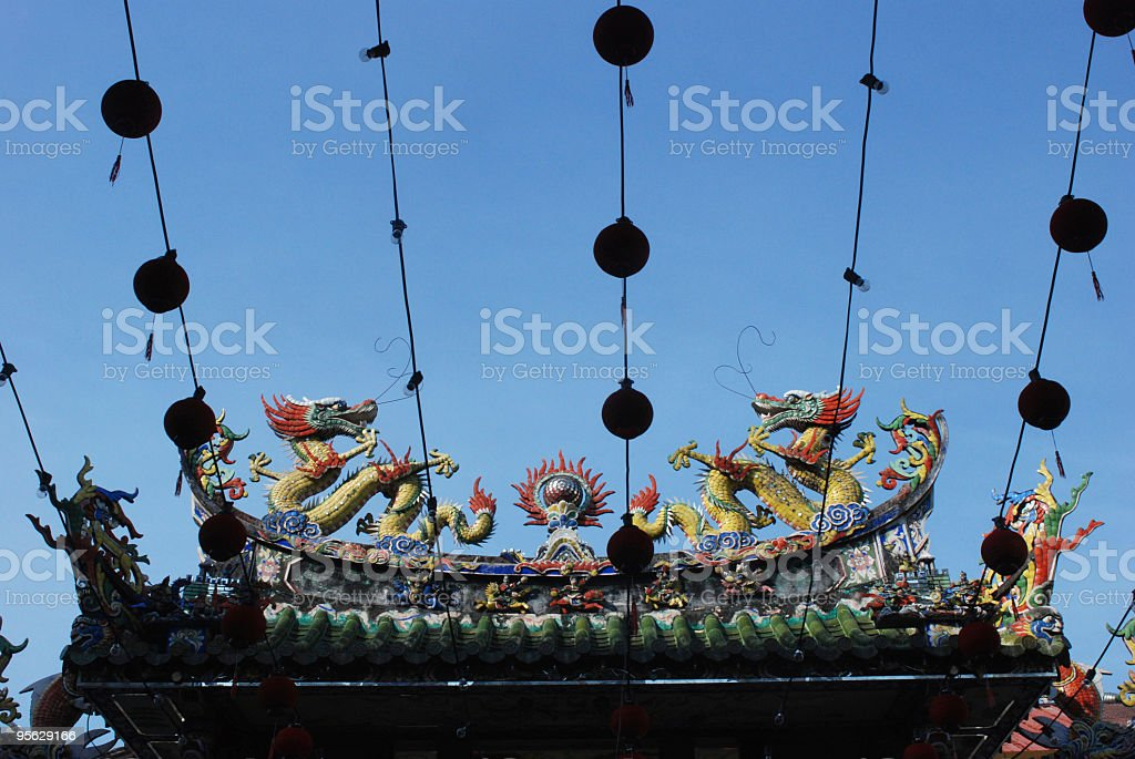 Chinese temple roof royalty-free stock photo
