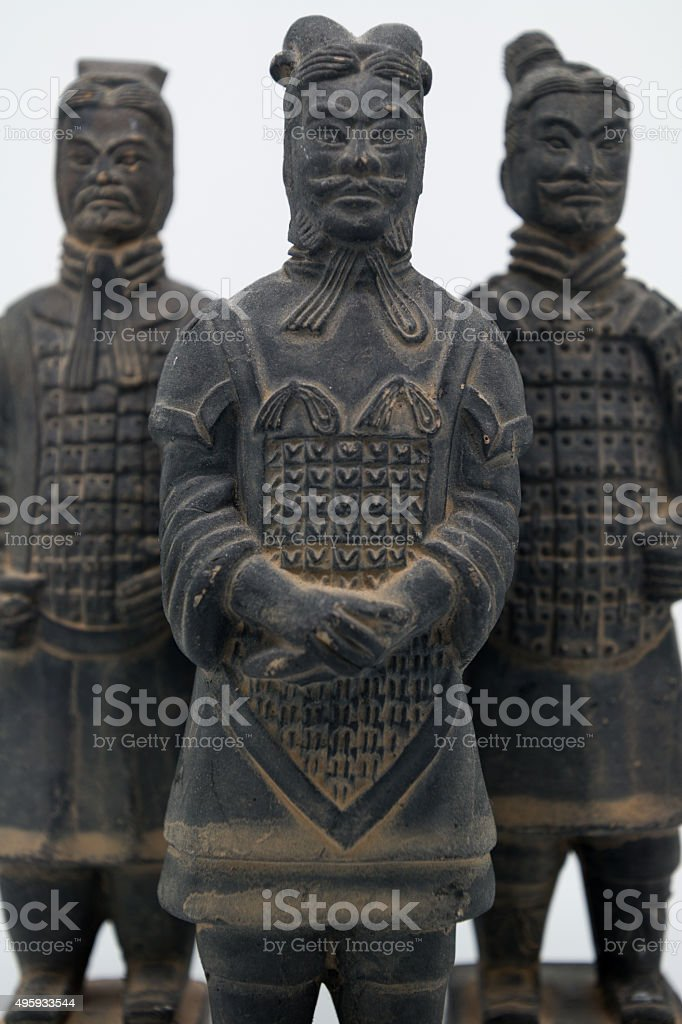 Chinese Terracotta Army Figurines - portrait stock photo