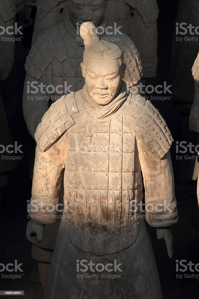 Chinese Terracotta Warrior stock photo