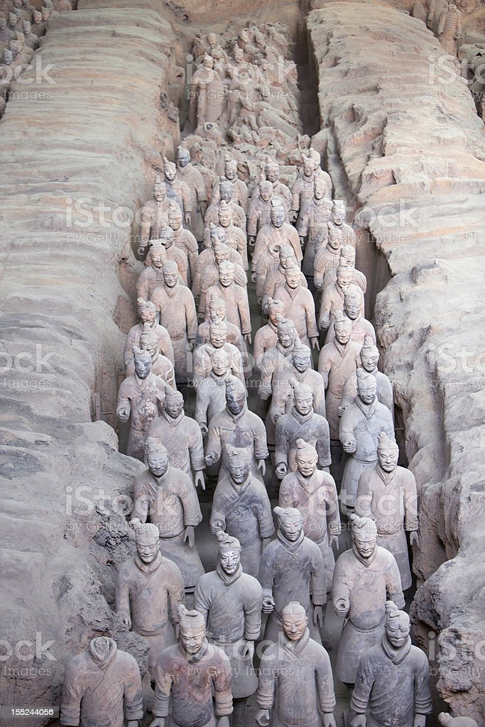 Chinese Terracotta Warriors royalty-free stock photo