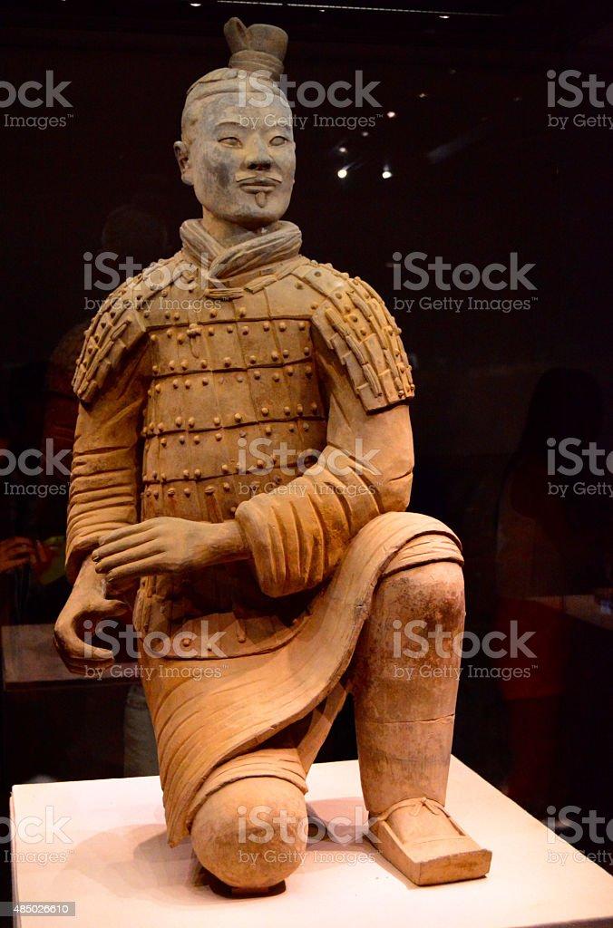 Chinese terracotta warriors stock photo