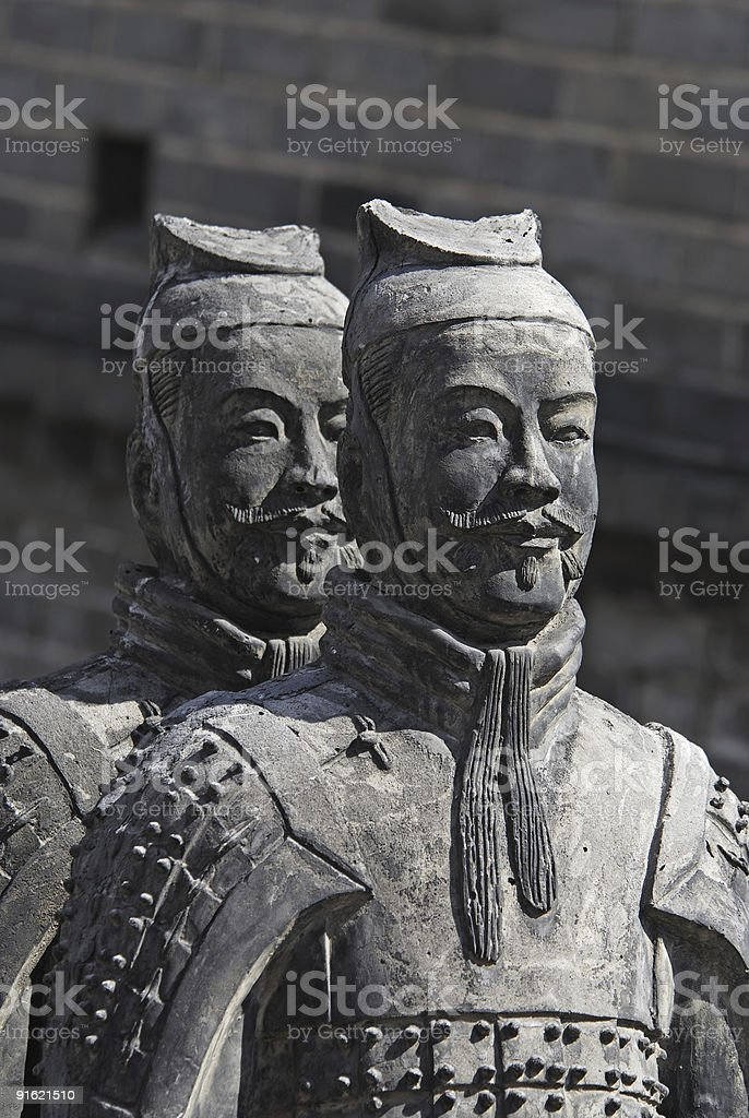 Chinese terracotta warriors royalty-free stock photo