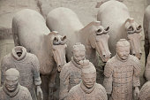 Chinese terracotta warriors to protect the emperor in his afterlife