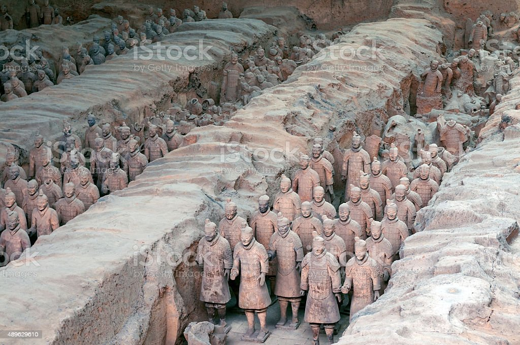 Chinese terracotta warriors Xian China stock photo