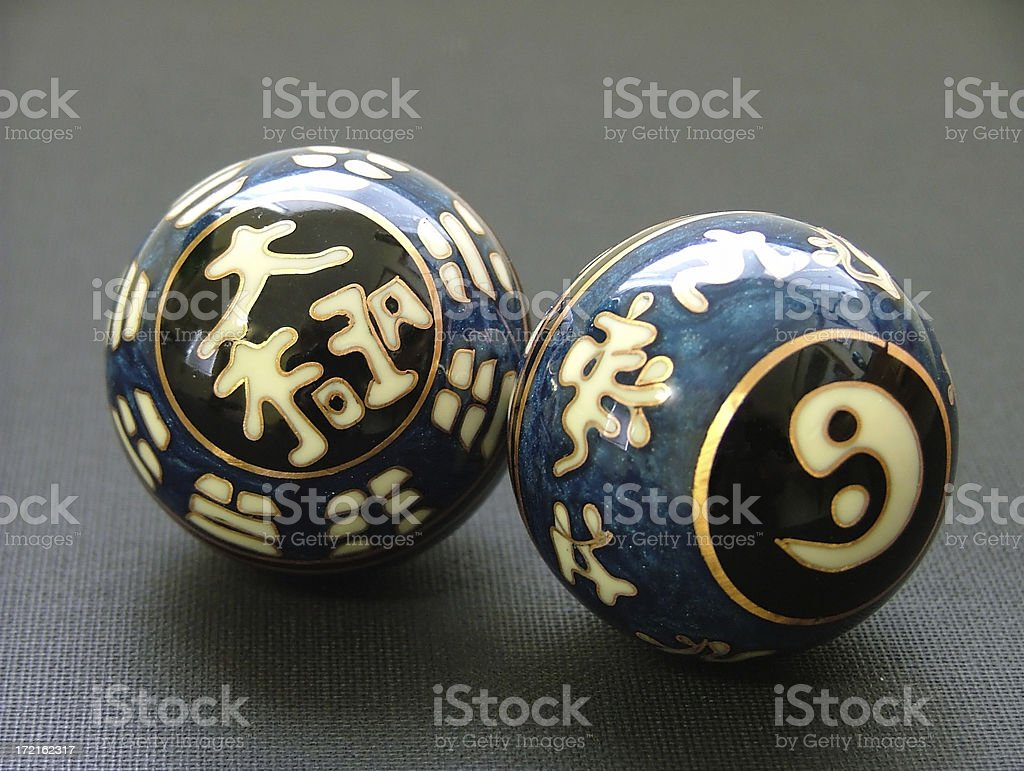 Chinese Therapy Balls royalty-free stock photo