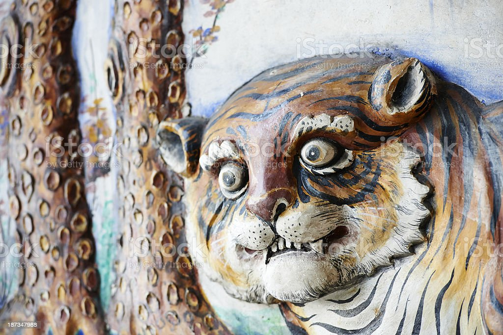 Chinese Tiger Sculpture stock photo