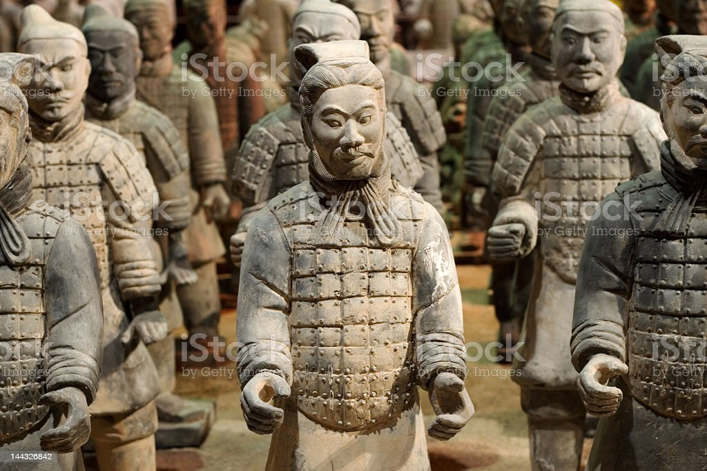 Chinese Tomb Warriors royalty-free stock photo