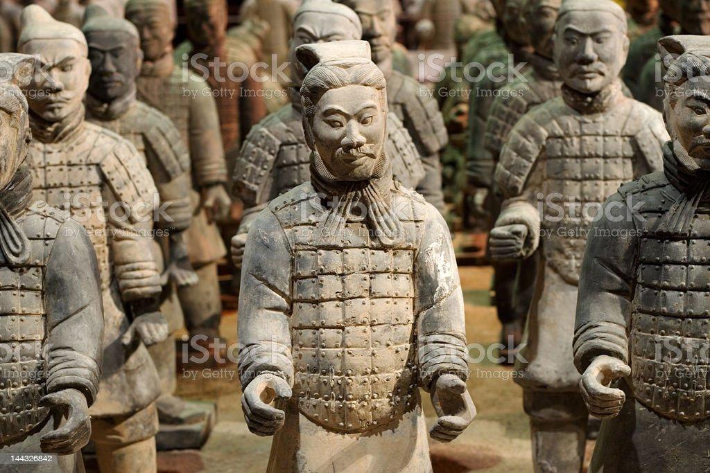 Chinese Tomb Warriors stock photo