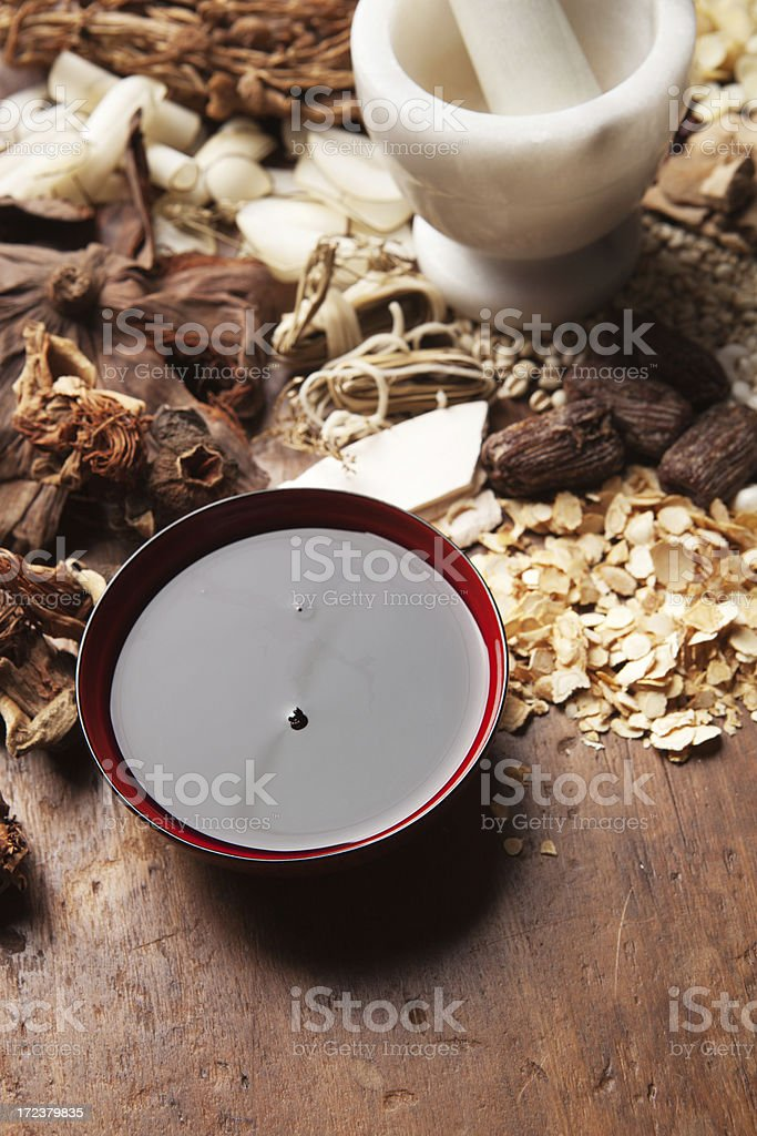 Chinese Tonic Tea Made from Herbal Medicine Vt royalty-free stock photo