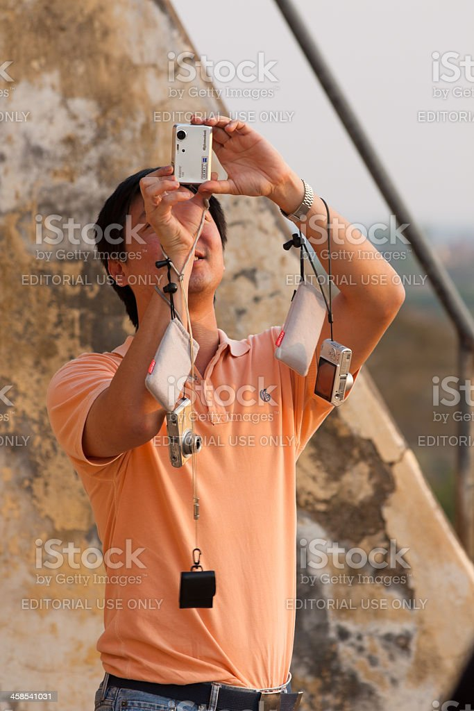 Chinese tourist in Burma royalty-free stock photo