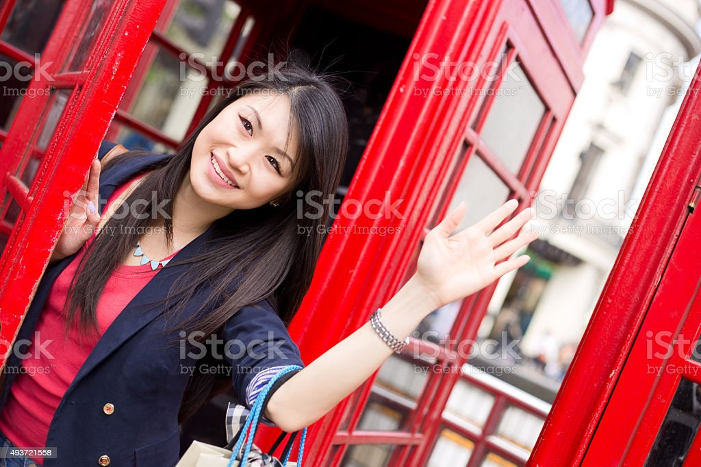 chinese tourist in London royalty-free stock photo