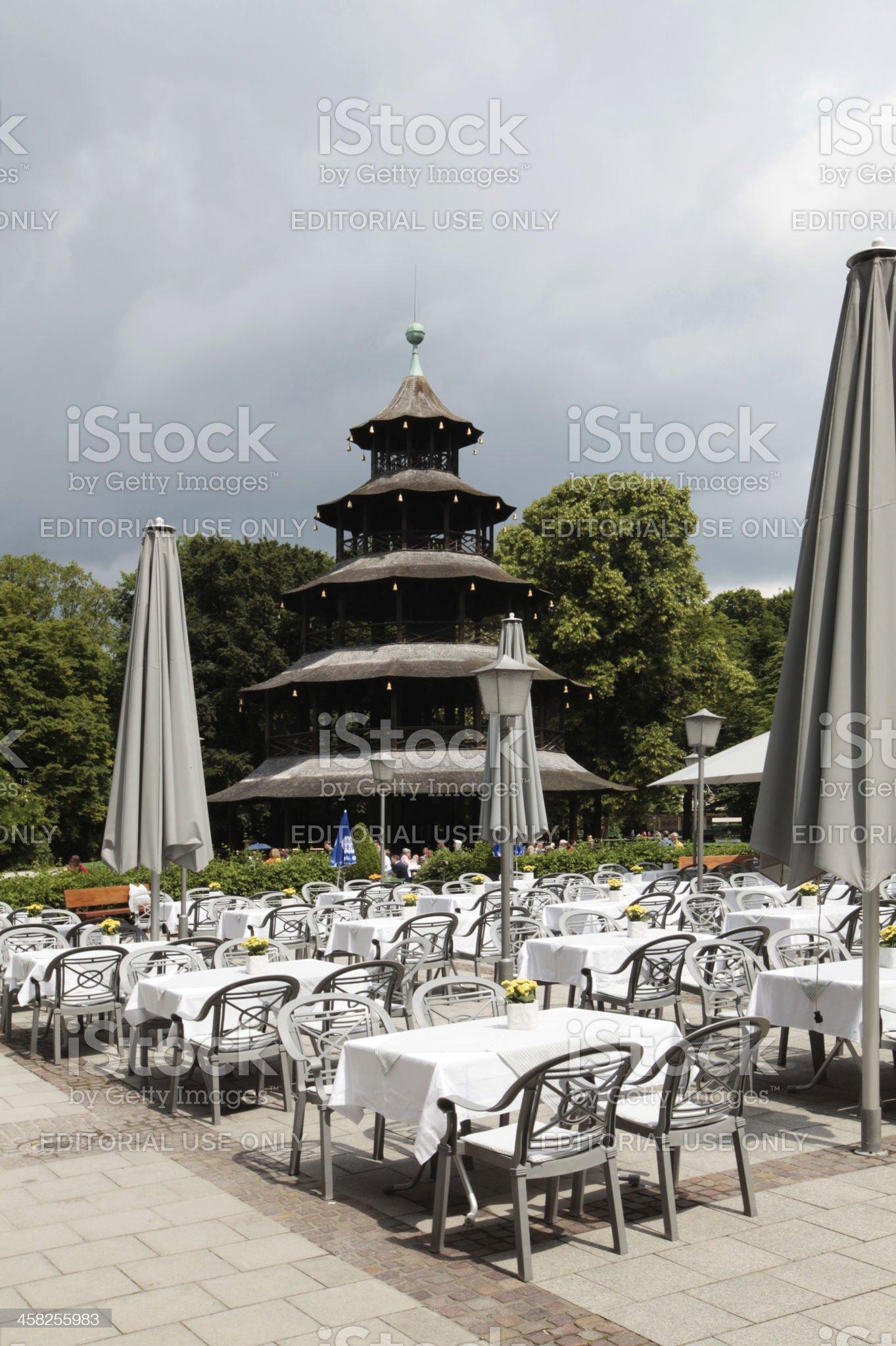 Chinese Tower, Munich royalty-free stock photo