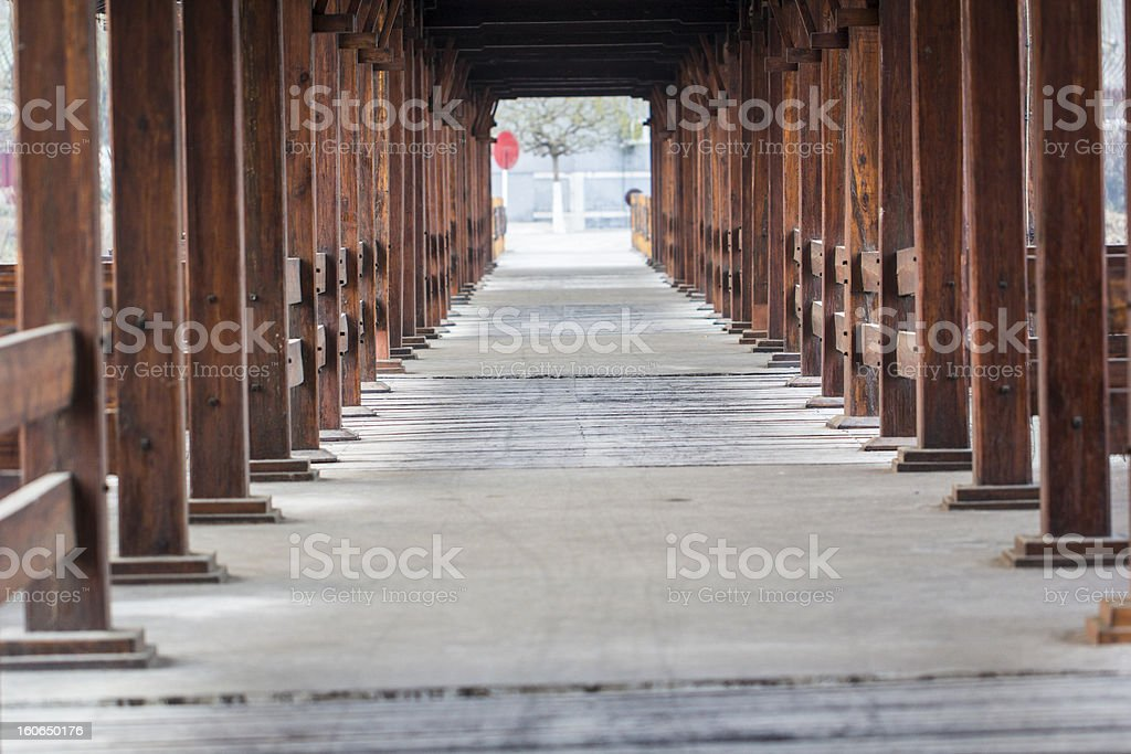Chinese tradition house with light at night royalty-free stock photo