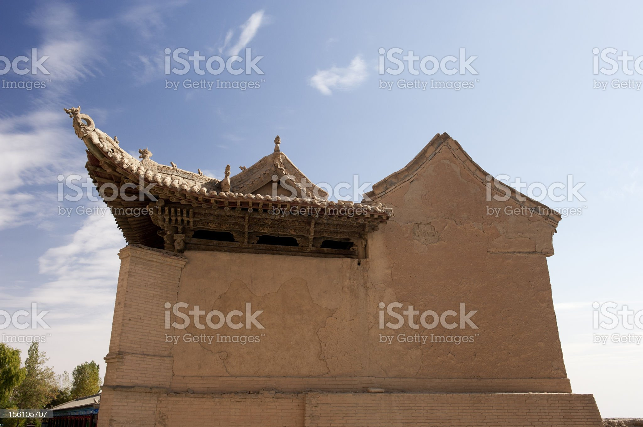 chinese traditional ancient building royalty-free stock photo