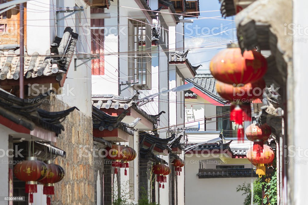 Chinese traditional architecture in Lijiang, Yunnan stock photo