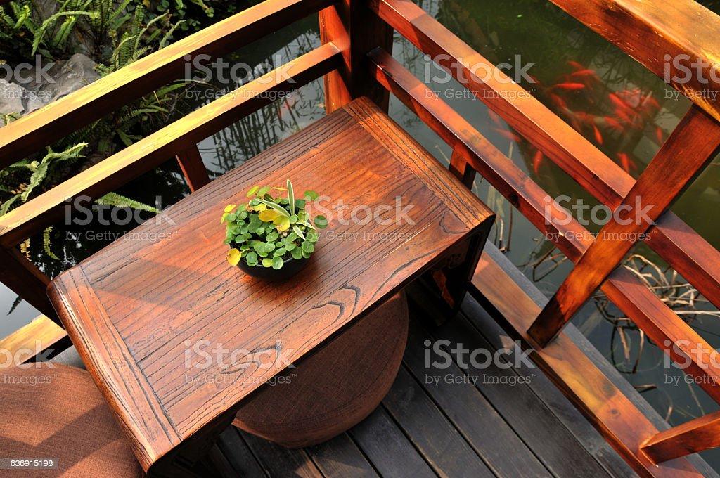 Chinese traditional backyard stock photo