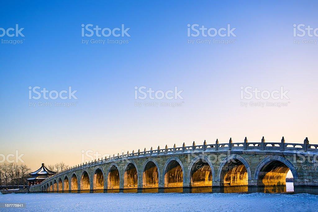 Chinese traditional bridge stock photo